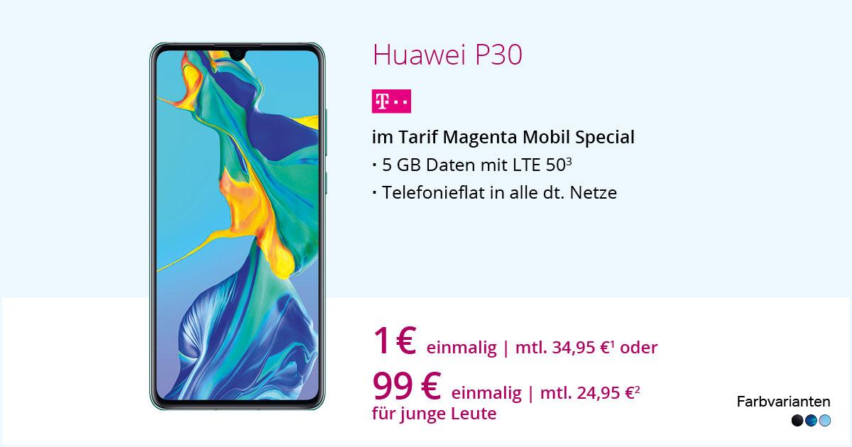 Huawei P30 Mit MagentaMobil Special Mit Smartphone