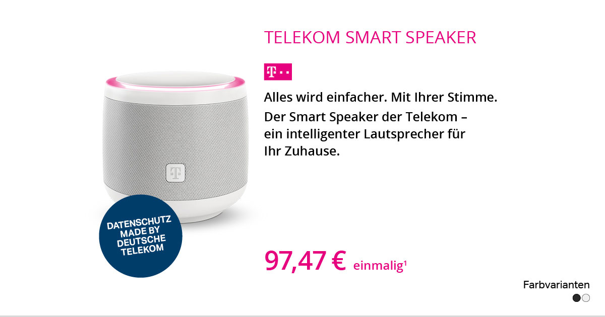 Telekom Smart Speaker – Hallo Magenta