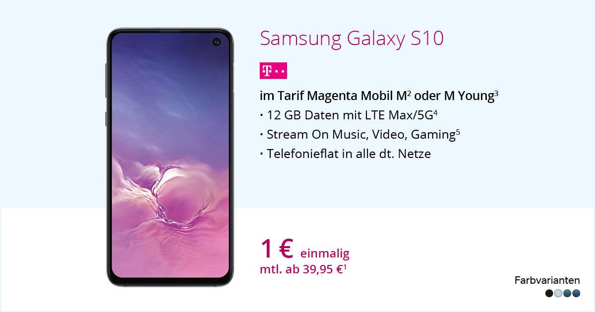 Samsung Galaxy S10 Mit MagentaMobil M