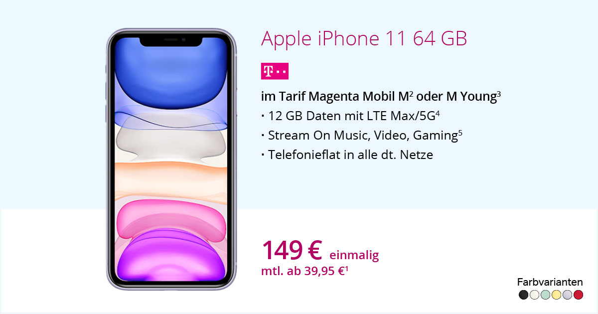 Apple IPhone 11 Mit MagentaMobil M