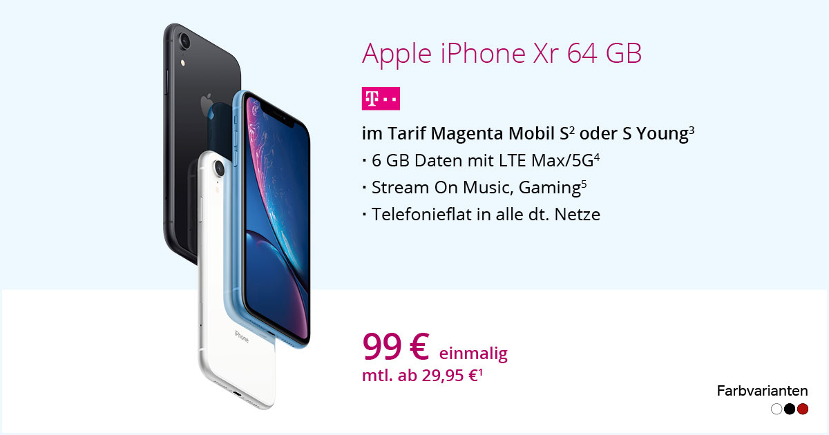 Apple IPhone Xr Mit MagentaMobil S