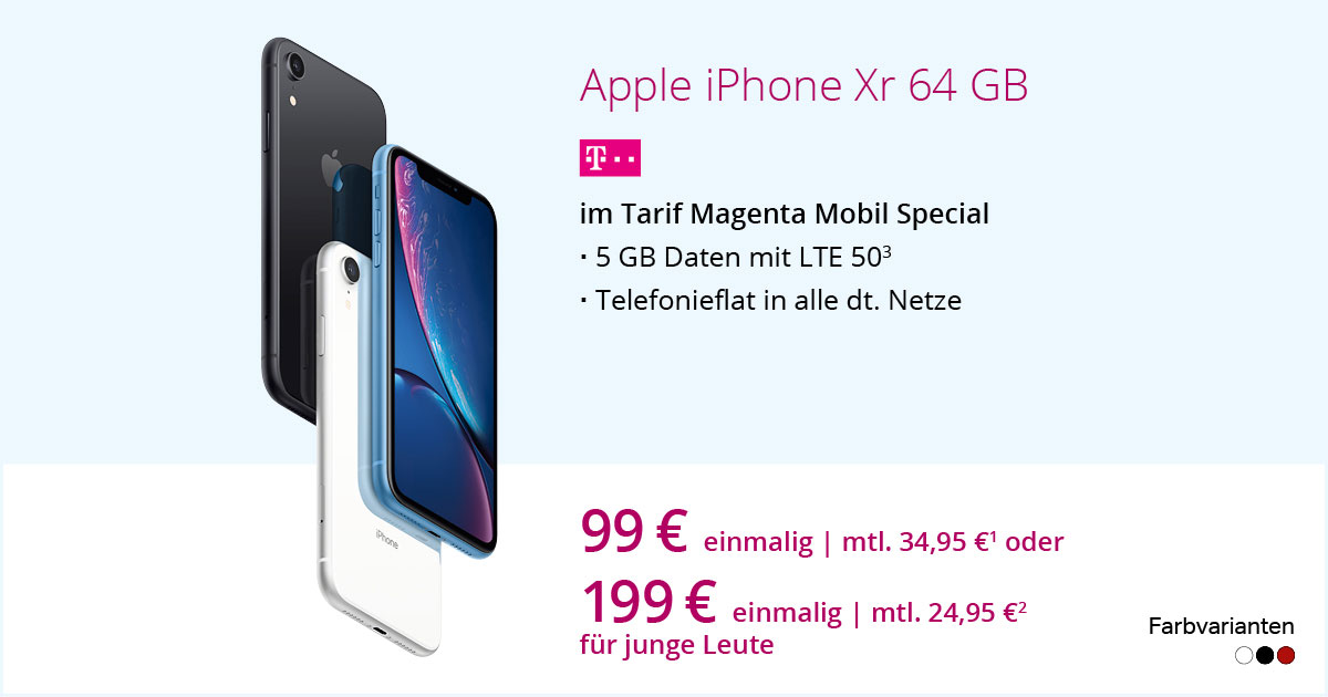 Apple IPhone Xr Mit MagentaMobil Special
