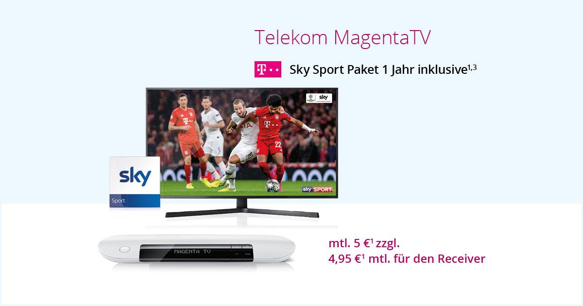 MagentaTV – 1 Jahr SKY Inklusive