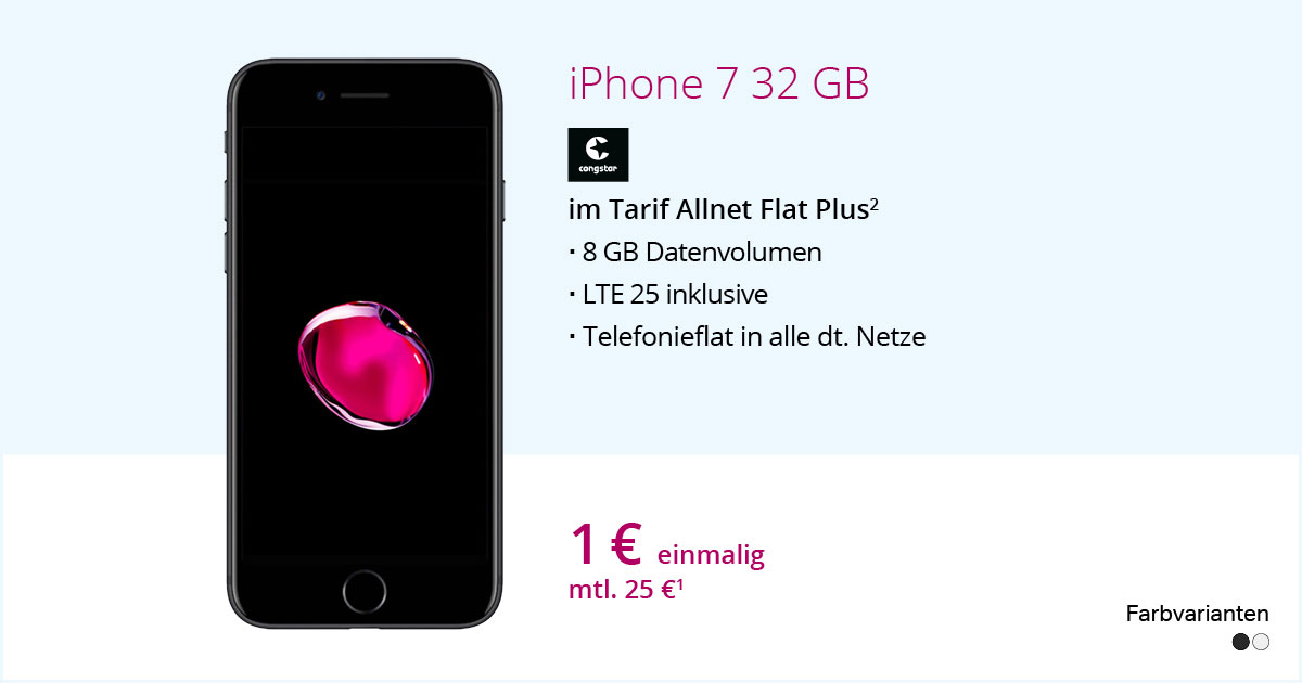 Apple IPhone 7 Mit Congstar Allnet Flat Plus