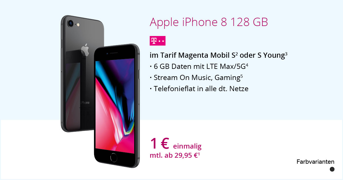 Apple IPhone 8 128 GB Mit MagentaMobil S