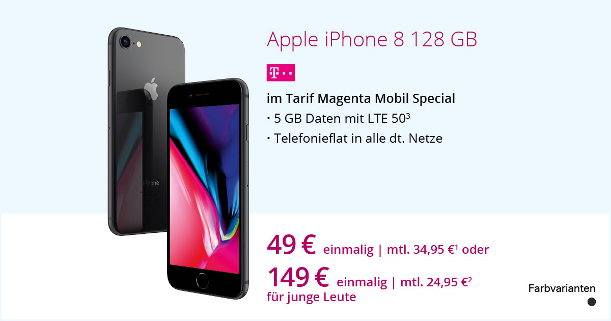 Apple IPhone 8 128 GB Mit MagentaMobil Special