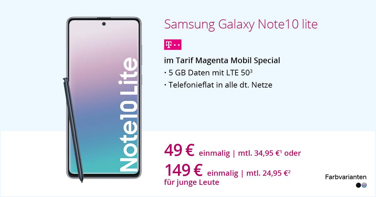 Samsung Galaxy Note 10 Lite Mit MagentaMobil Special