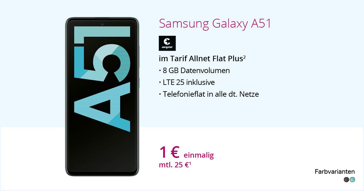 Samsung Galaxy A51 Mit Congstar Allnet Flat Plus