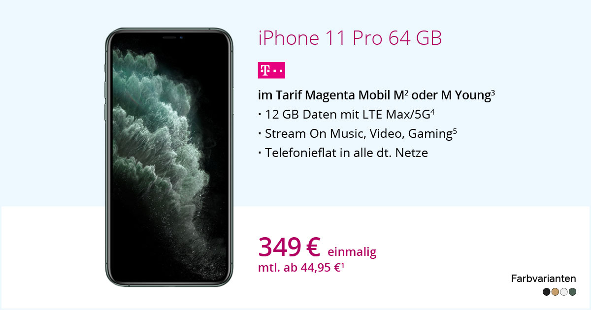 Apple IPhone 11 Pro Mit MagentaMobil M