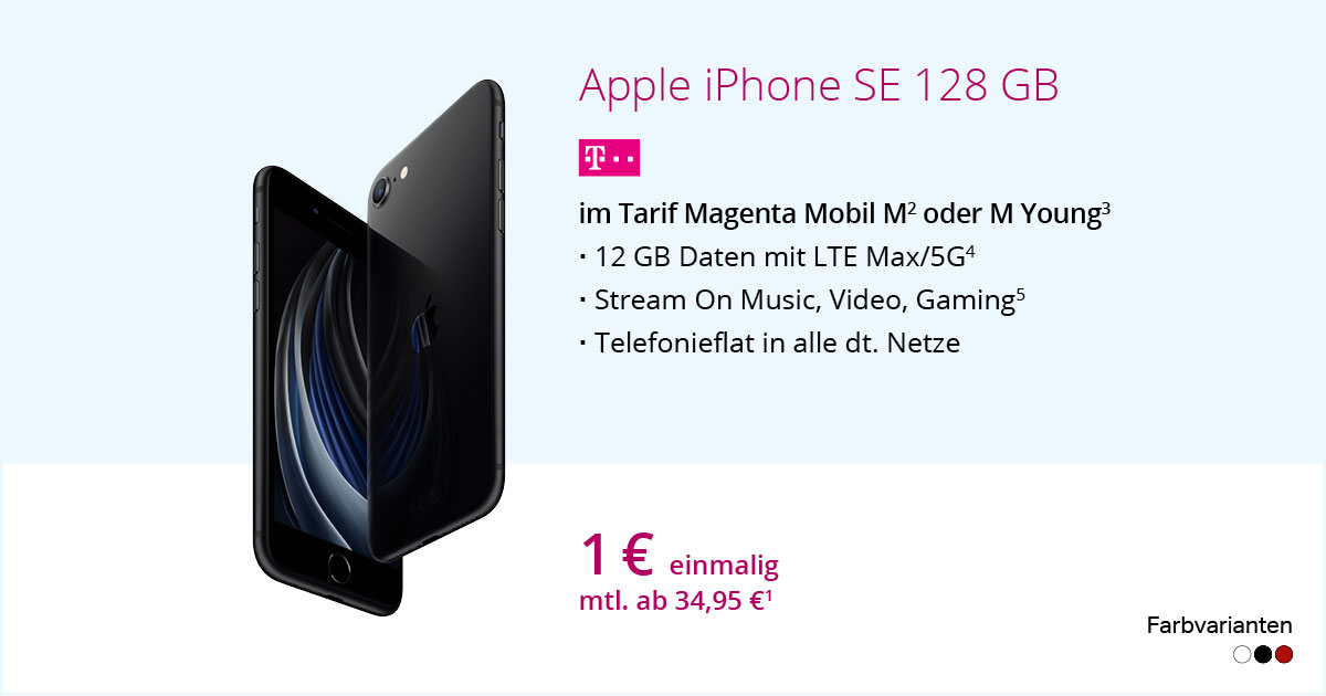 Apple IPhone SE 2020 128 GB Mit MagentaMobil M