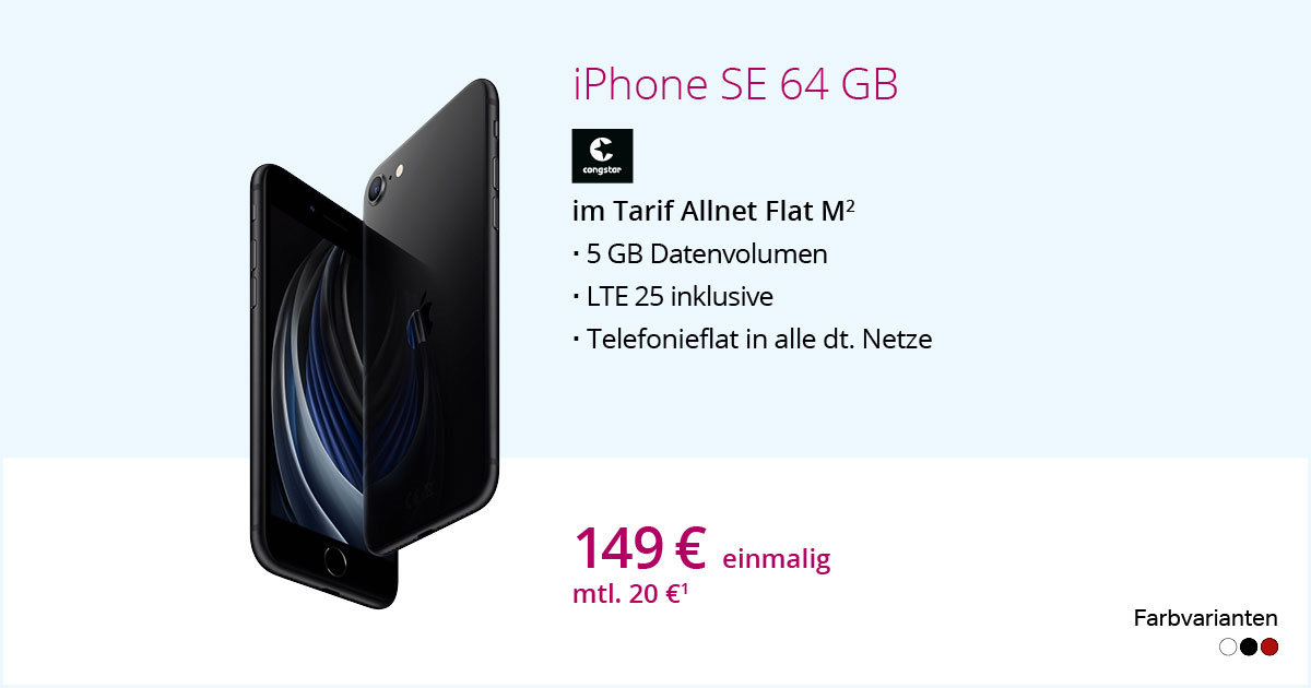 Apple IPhone SE 64 GB Mit Congstar Allnet Flat M