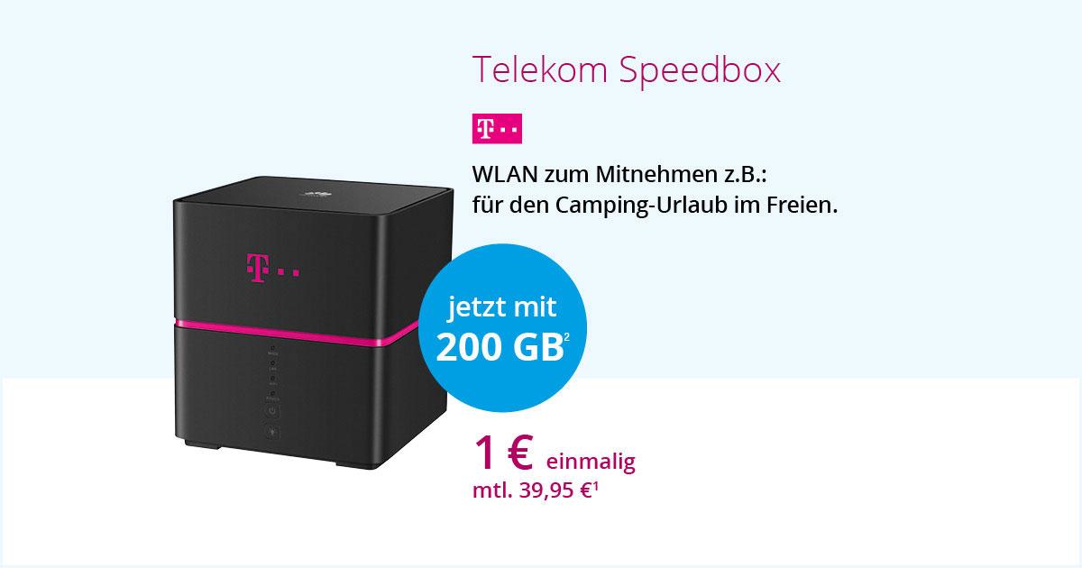 Telekom Speedbox Mit 200 GB Datenvolumen
