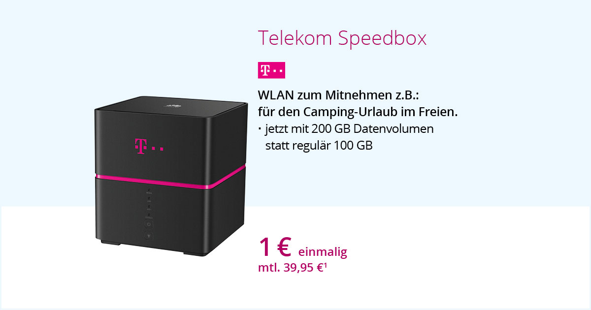 Telekom Speedbox Mit 200 GB Datenvolumen