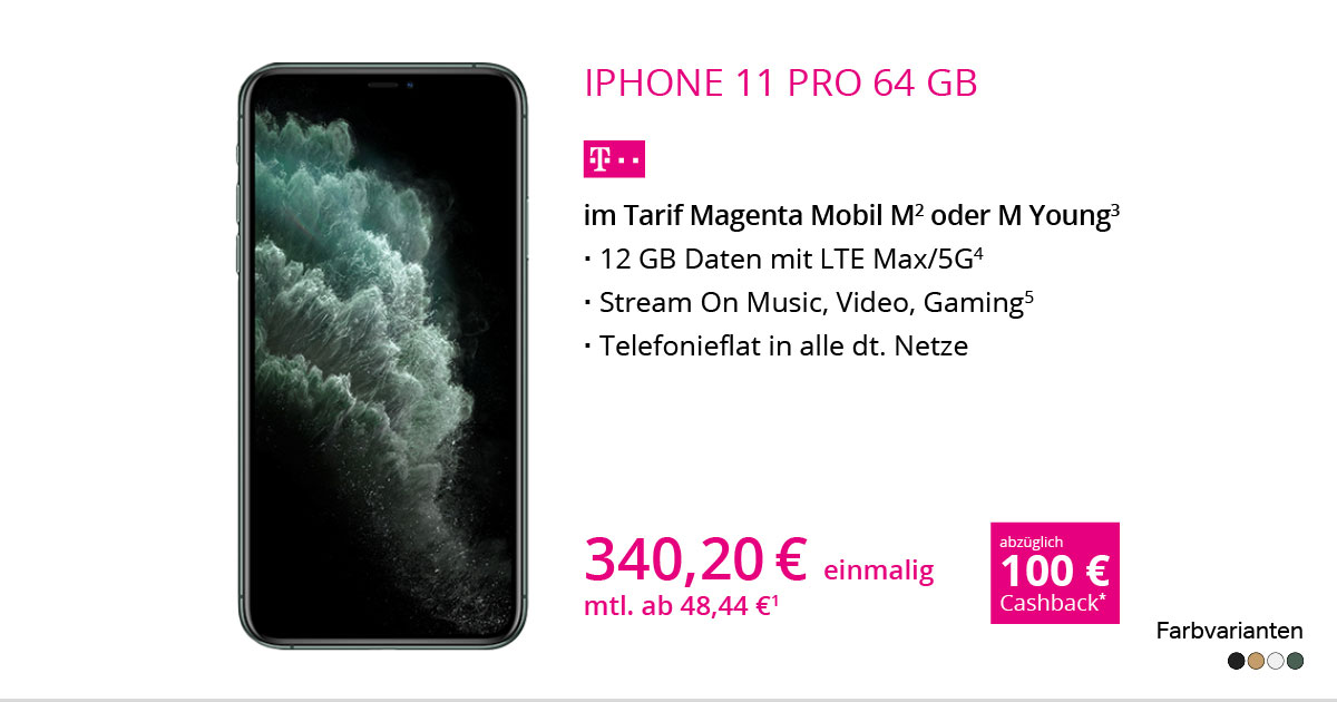 Apple IPhone 11 Pro 64 GB Mit MagentaMobil M