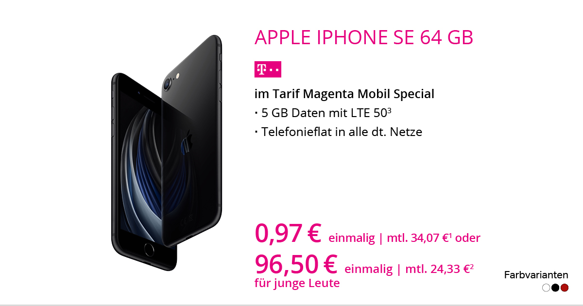 Apple IPhone SE 2020 64 GB Im Tarif MagentaMobil Special