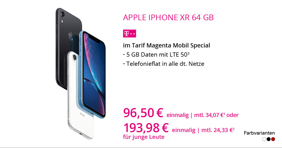 Apple IPhone Xr 64 GB Mit MagentaMobil Special