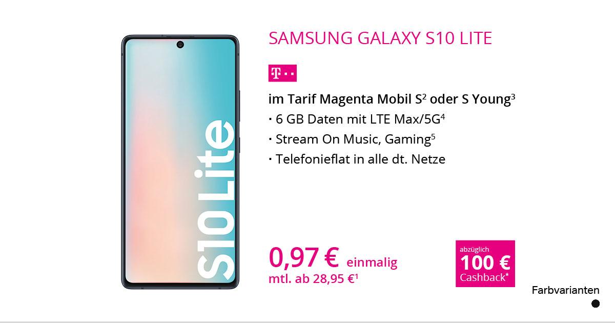 Samsung Galaxy S10 Lite Mit MagentaMobil S