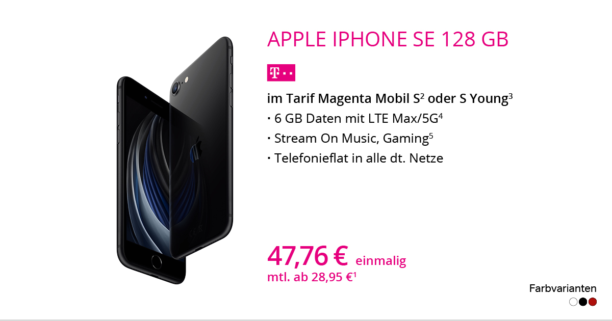 Apple IPhone SE 2020 128 GB Mit MagentaMobil S