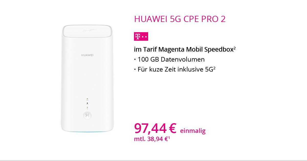 Huawei 5G CPE Pro 2 Router Mit MagentaMobil Speedbox