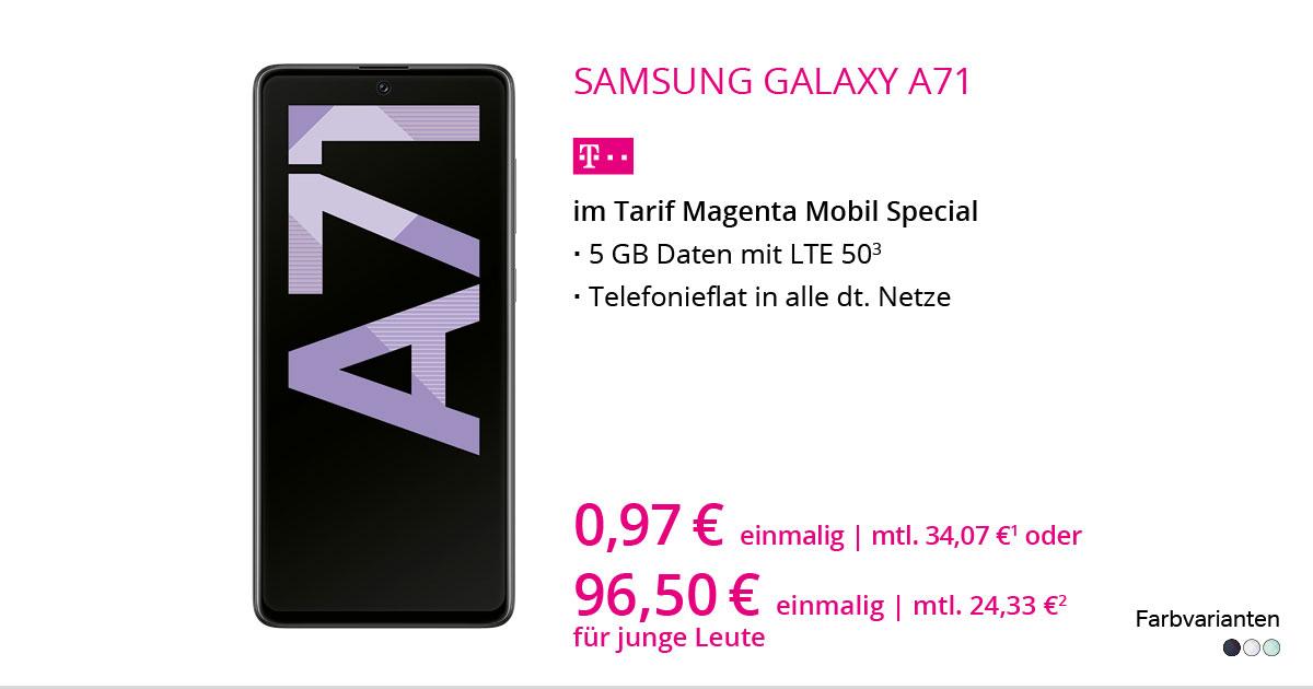 Samsung Galaxy A71 Mit MagentaMobil Special