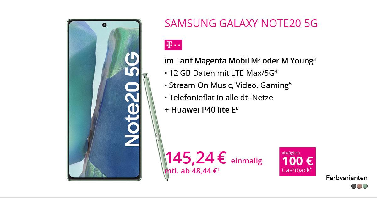 Samsung Galaxy Note20 5G Mit MagentaMobil M