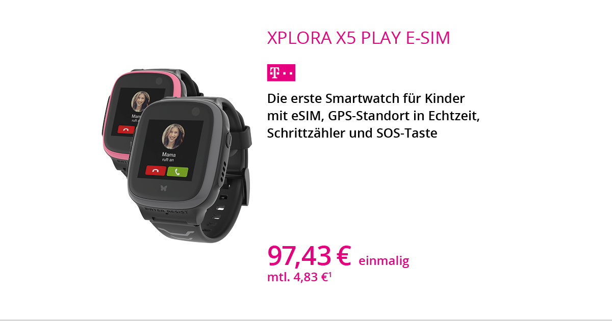 XPLORA X5 Play ESIM Smartwatch Mit Smart Connect S