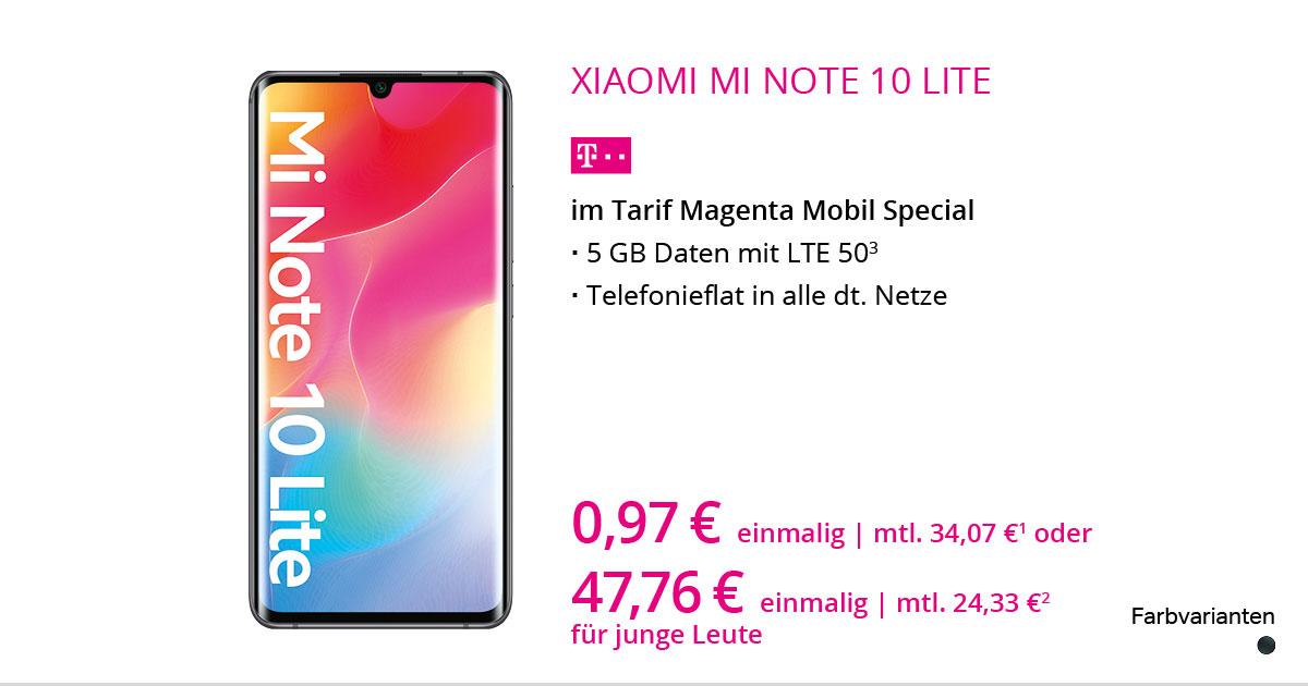 Xiaomi Redmi Note 10 Lite Mit MagentaMobil Special