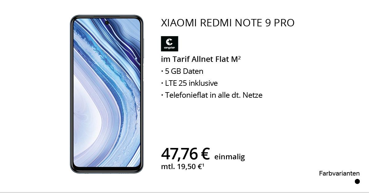 Xiaomi Redmi Note 9 Pro Mit Congstar Allnet Flat M