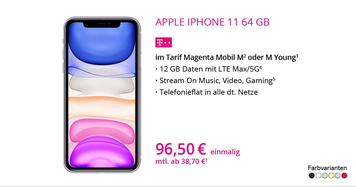 Apple IPhone 11 64 GB Mit MagentaMobil M