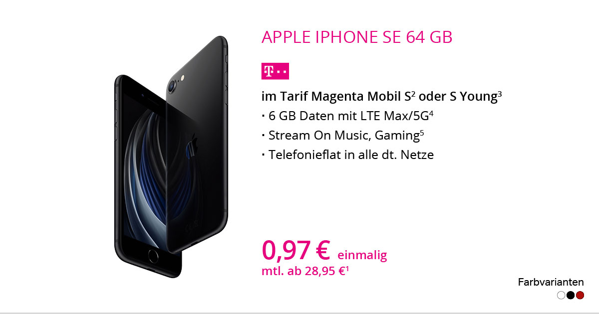 Apple IPhone SE 2020 64 GB Im Tarif MagentaMobil S