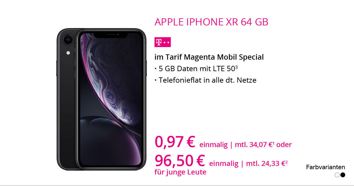 Apple IPhone XR 64 GB Im Tarif MagentaMobil Special