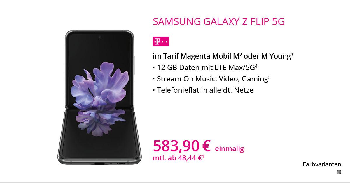 Samsung Galaxy Z Flip 5G Mit MagentaMobil M