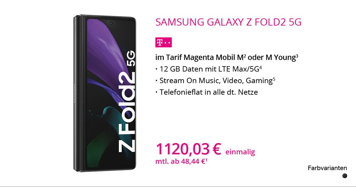 Samsung Galaxy Z Fold2 5G Mit MagentaMobil M