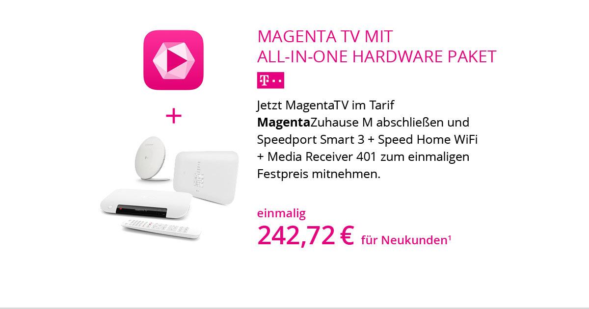 All-In-One Hardware Paket Mit MagentaZuhause M Und MagentaTV