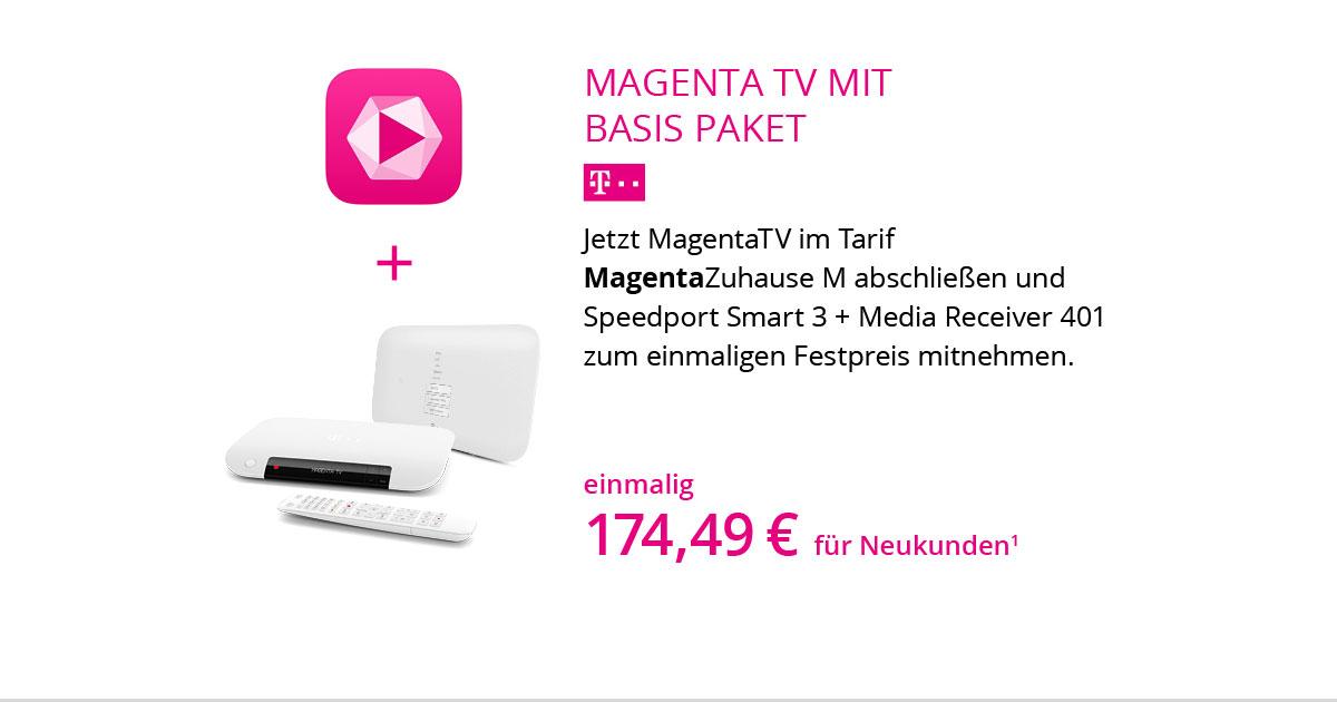 Basis Hardware Paket Mit MagentaZuhause M Und MagentaTV