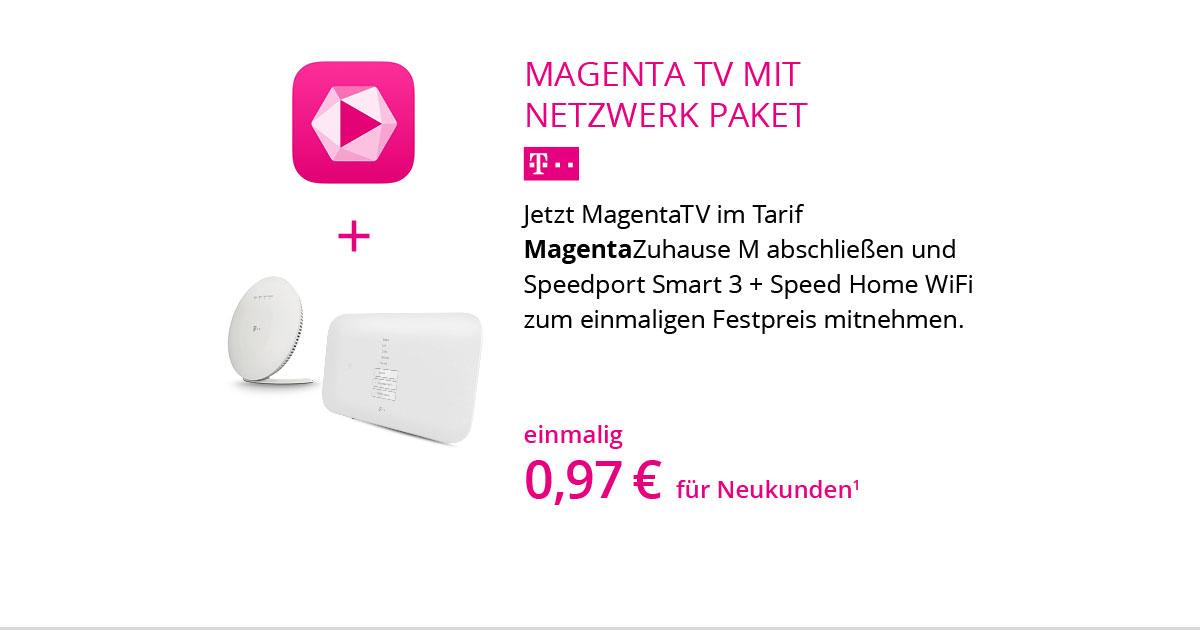 Netzwerk-Paket Mit MagentaZuhause M Und MagentaTV