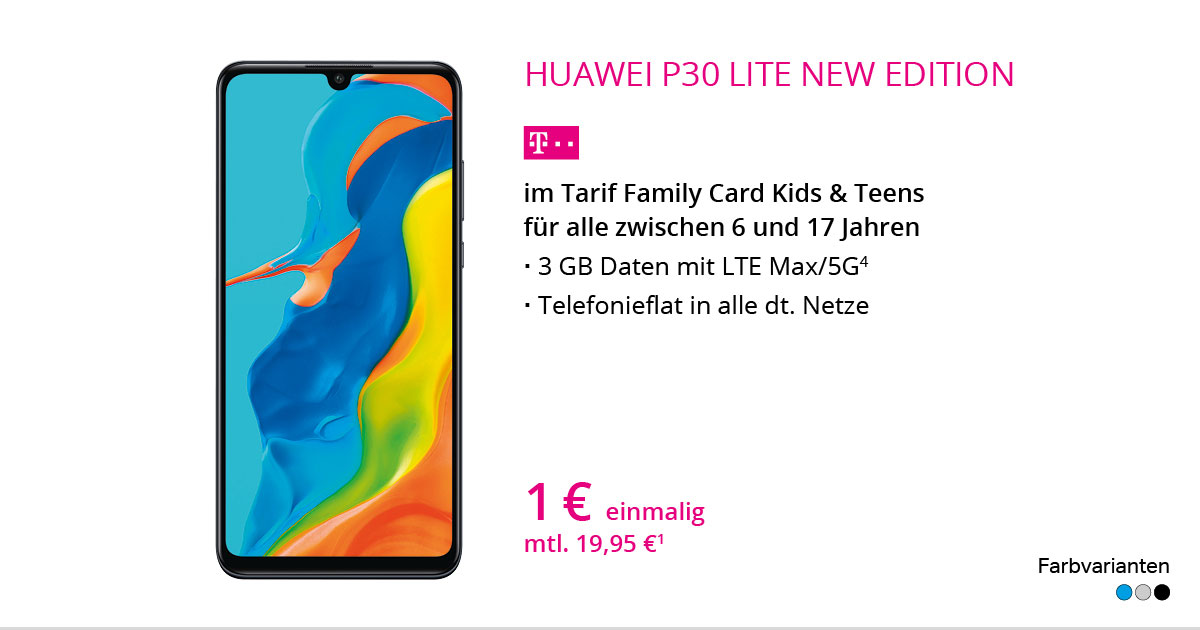 Huawei P30 Lite New Edition Mit Family Card Kids & Teens
