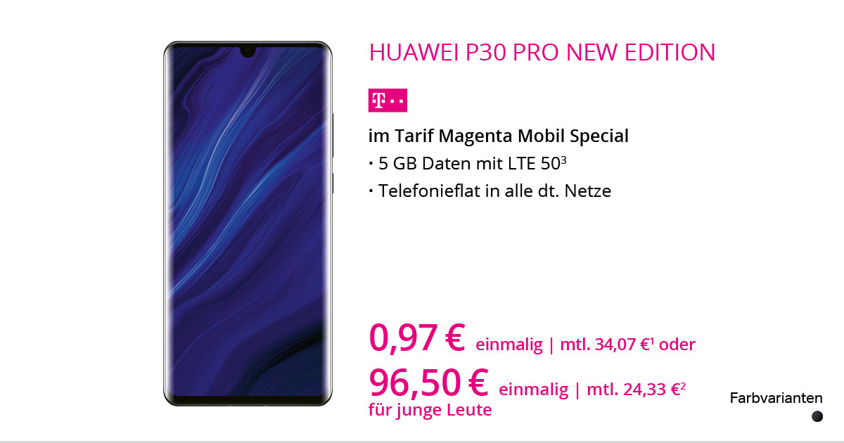 Huawei P30 Pro New Edition Mit MagentaMobil Special