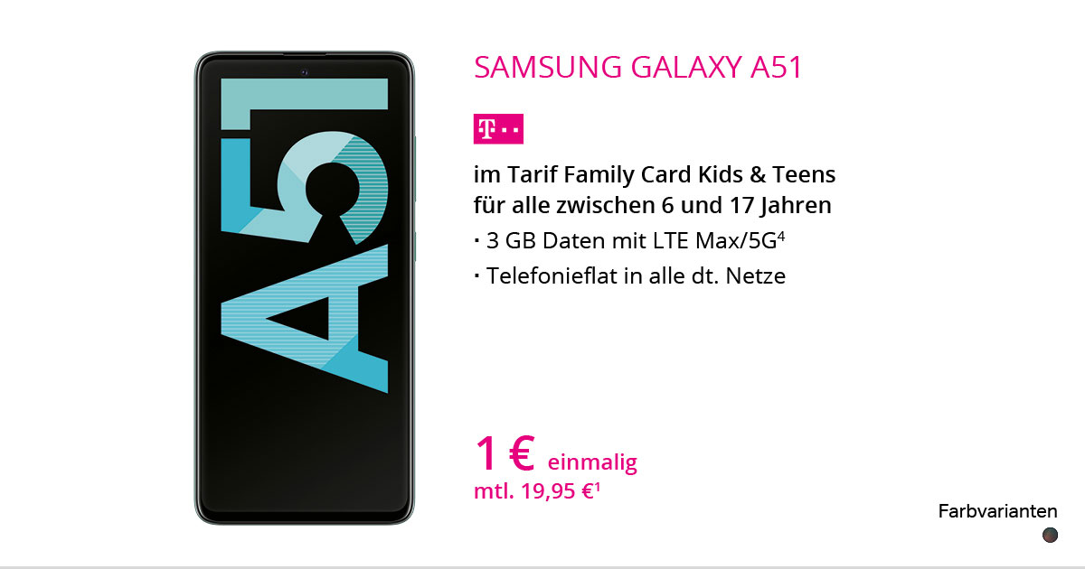 Samsung Galaxy A51 Mit Family Card Kids & Teens