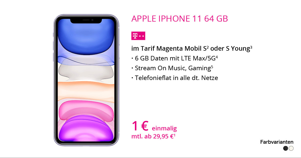 Apple IPhone 11 64 GB Mit MagentaMobil S