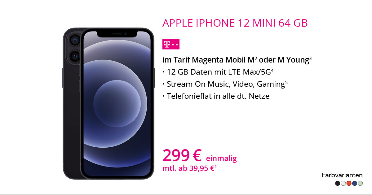 Apple IPhone 12 Mini 64 GB Mit MagentaMobil M