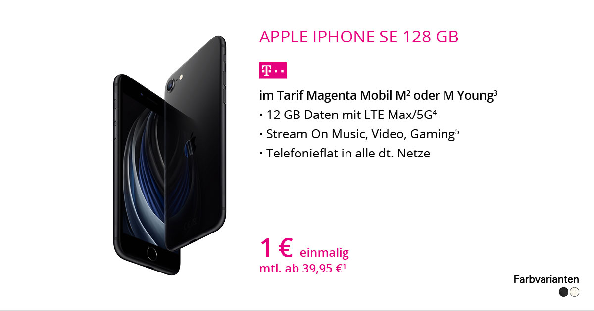 Apple IPhone SE 128 GB Mit MagentaMobil M