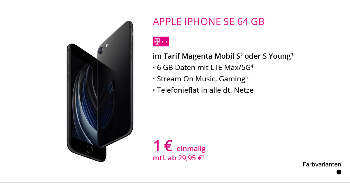 Apple IPhone SE 64 GB Mit MagentaMobil S