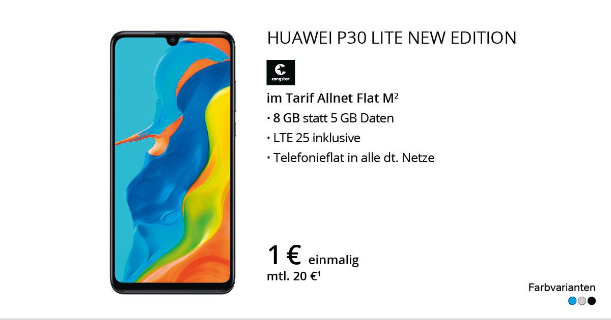 Huawei P30 Lite New Edition Mit Congstar Allnet Flat M