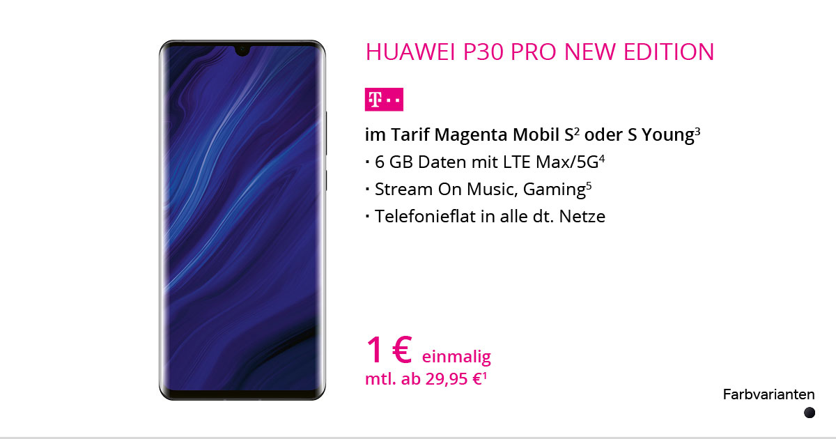 Huawei P30 Pro New Edition Mit MagentaMobil S