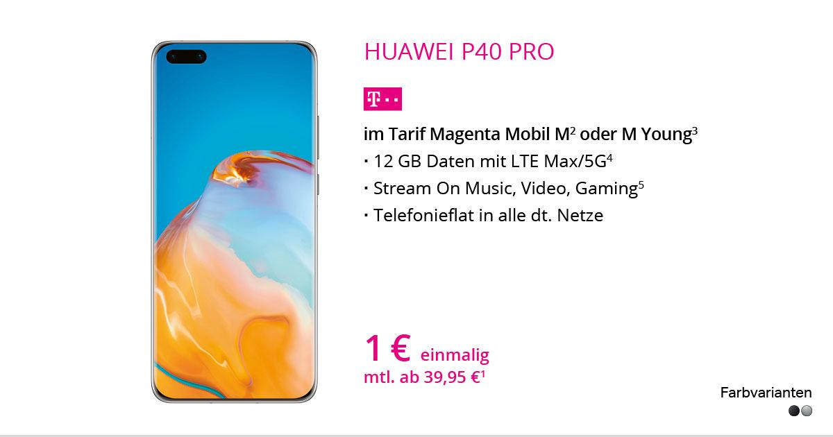 Huawei P40 Pro Mit MagentaMobil M
