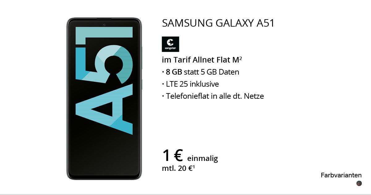 Samsung Galaxy A51 Mit Congstar Allnet Flat M