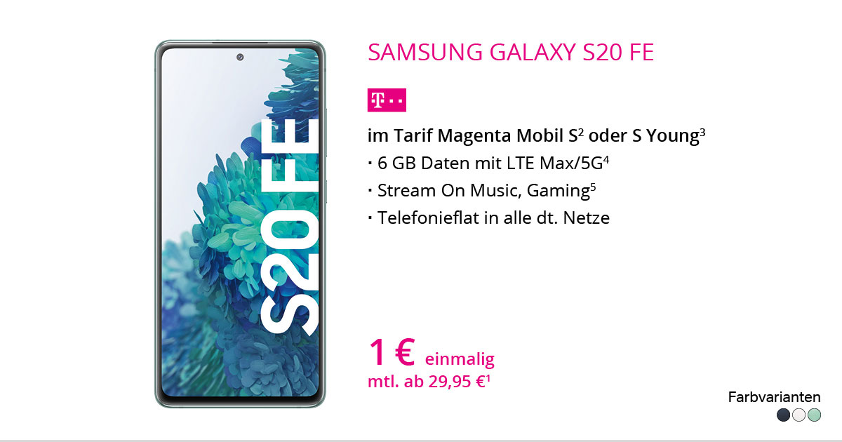 Samsung Galaxy S20 FE Mit MagentaMobil S