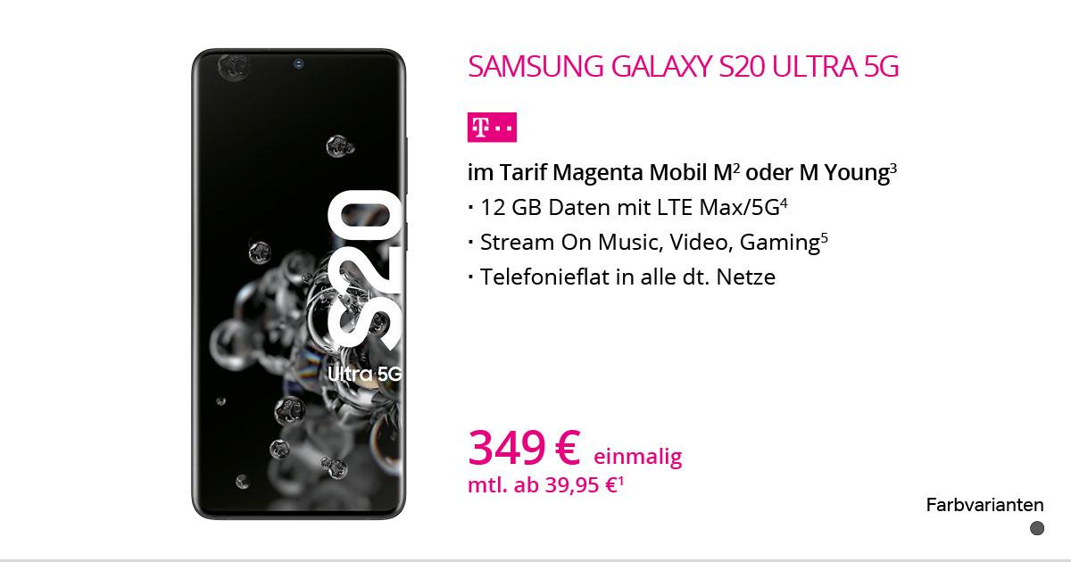Samsung Galaxy S20 Ultra 5G Mit MagentaMobil M