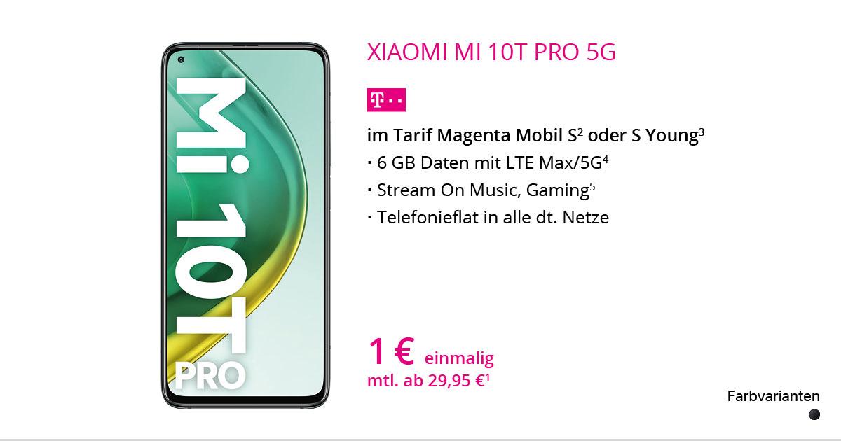 Xiaomi Mi 10T Pro Mit MagentaMobil S